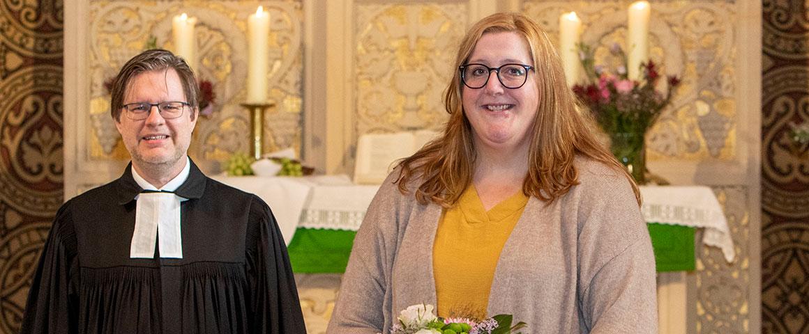 Ev. Kirchenkreis Herford, Obernbeck, Ina Lehnard, Pfarrer Thomas Struckmeier