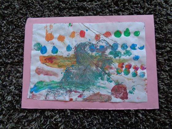 Entdecken & Experimentieren mit Fingerfarbe